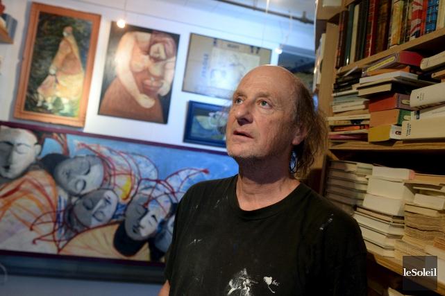 Gaëtana converti son entrepôt de livres en atelier,... (Le Soleil, Erick Labbé)