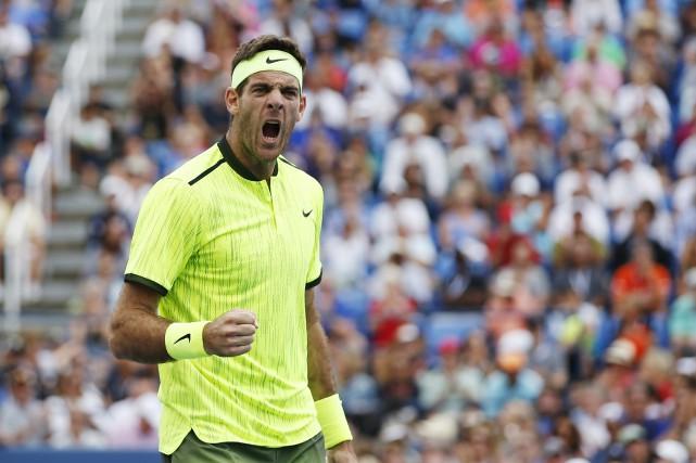 Le beau retour de l'Argentin Juan Martin del... (Photo AP)