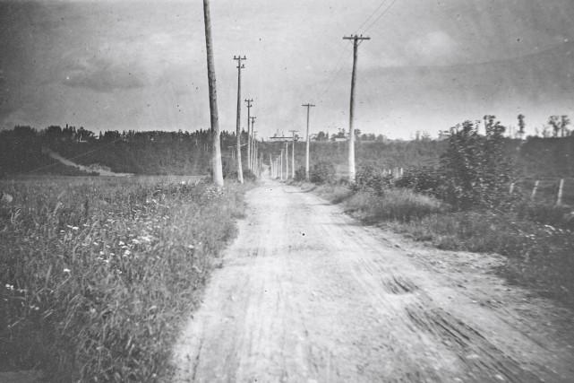 L'avenue Saint-Sacrement en 1916... (Archives de la Ville de Québec, N010751)
