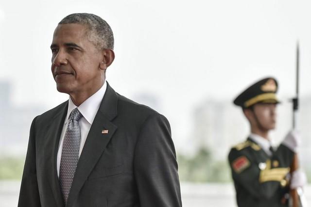 Barack Obama participe ausommet du G20 en Chine.... (PHOTO ETIENNE OLIVEAU, AFP)