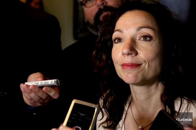 Martine Ouellet a souligné que sa formation politique... (PHoto archives Le Droit)