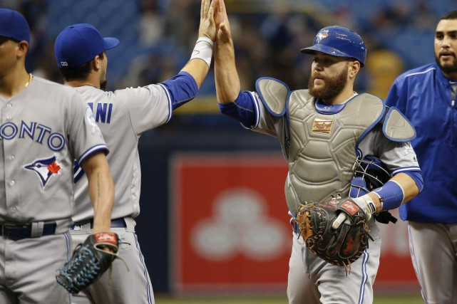 Russell Martin a dénoué l'impasse avec un circuit de deux points en huitième et... (Photo USA Today Sports)