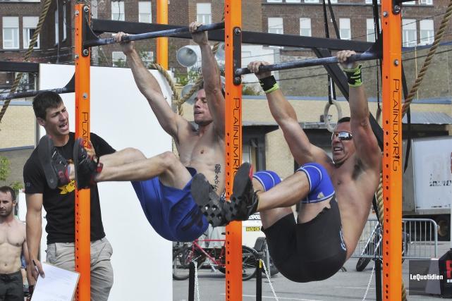 Le challenge régional CrossFit s'est terminé, dimanche en... (Photo Le Quotidien, Rocket Lavoie)
