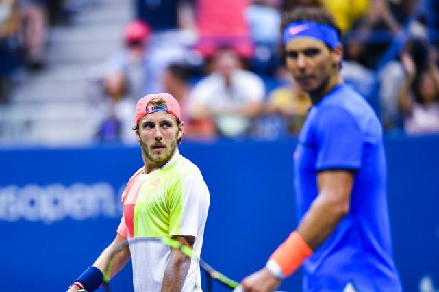 Lucas Pouille a éliminé Rafael Nadal au terme... (Photo AFP)