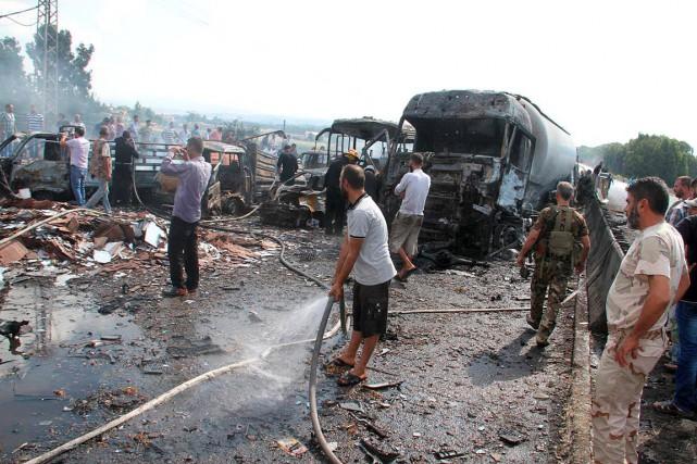 À Tartous (photo), l'attaque a été menée sur... (Photo SANA via REUTERS)