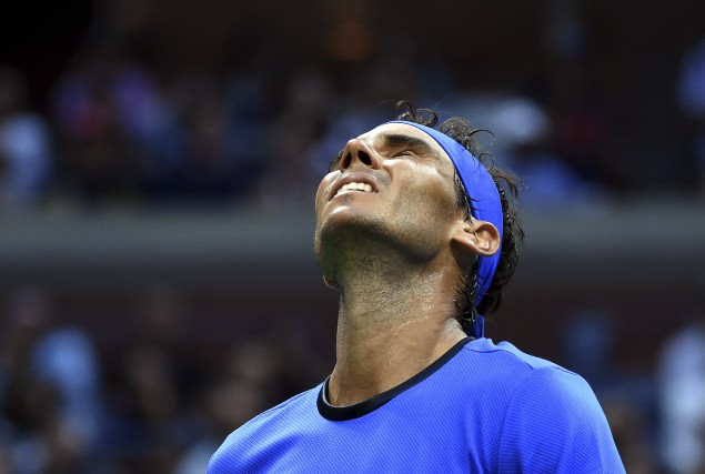 Pendant plus de quatre heures,Rafael Nadal s'est battu... (AFP, Don Emmert)