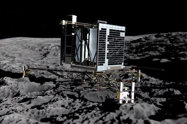 La sonde Rosetta est parvenue à capturer une... (AFP)