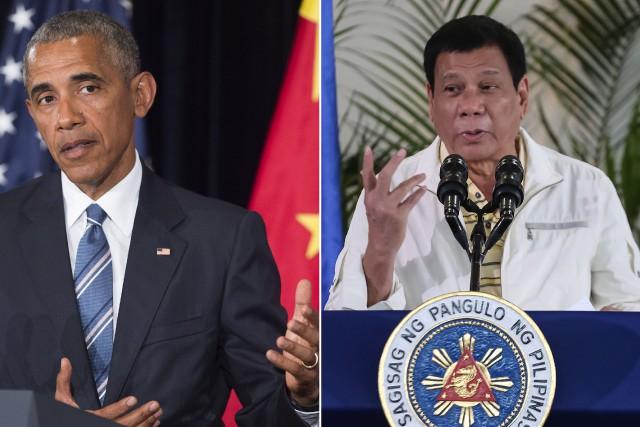 Le président philippinRodrigo Duterte a qualifié lundi son... (Photos AFP)