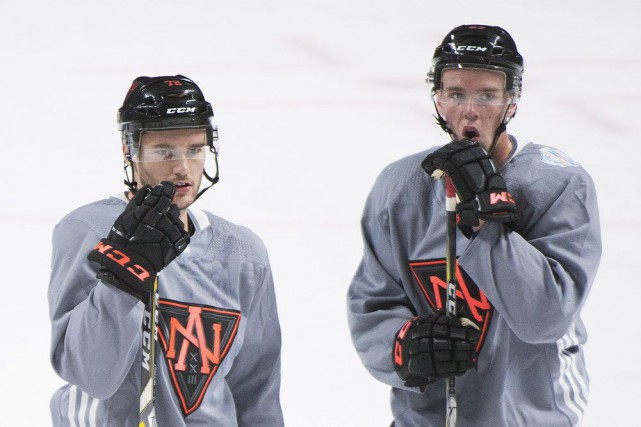 Jonathan Drouin et Connor McDavid... (PHOTO Graham Hughes, PC)