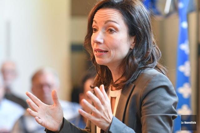 La députée de Vachon, Martine Ouellet, lors de... (Andréanne Lemire, Le Nouvelliste)