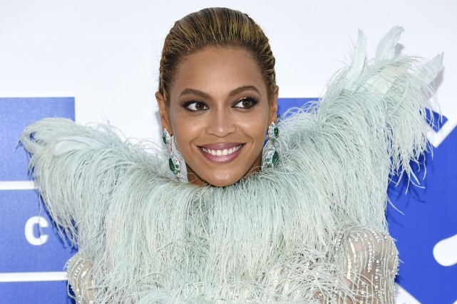 Beyoncé aux MTV Video Music Awards, le 28... (Archives AP, Evan Agostini)