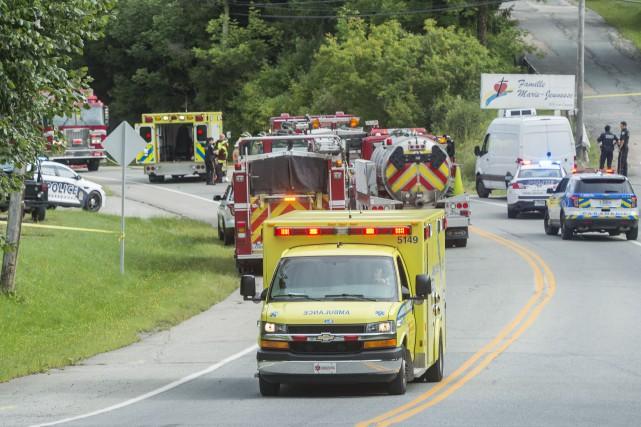 L'accident est survenu le 30 août sur la... (Spectre Média, Frédéric Côté)