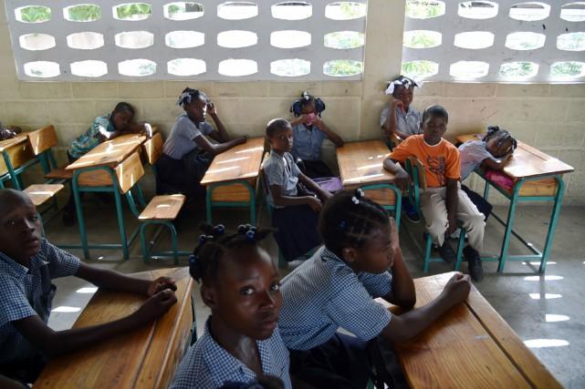 Fini le temps où l'école de Tabarre pouvait... (photo  HECTOR RETAMAL, AFP)