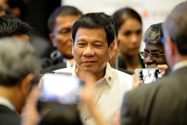 Philippine President Rodrigo Duterte arrives for the Association... (AFP)