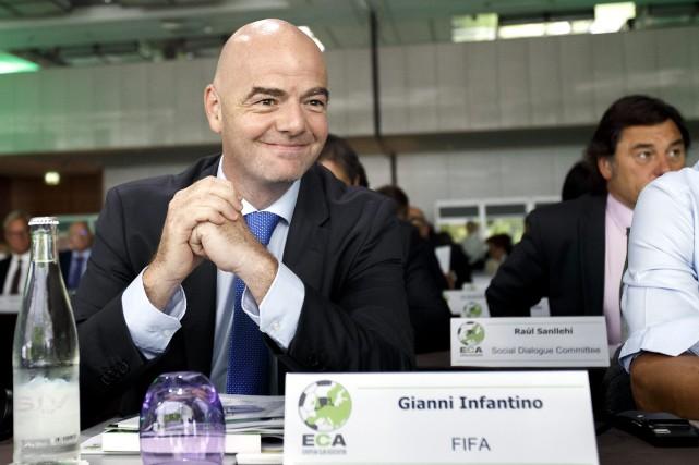 Le président de la FIFA, Gianni Infantino.... (Photo Salvatore Di Nolfi, AP)