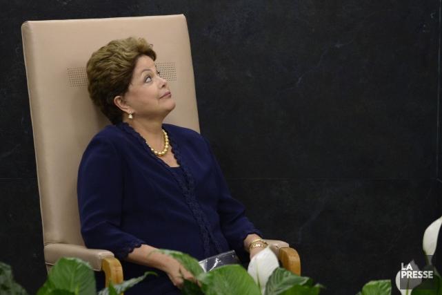 La présidente déstituée du Brésil, Dilma Roussef... (Timothy Clary, Archives AFP)
