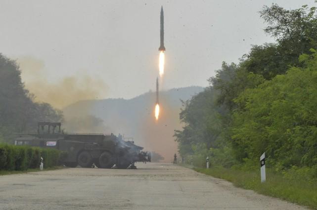 Cette photo, diffusée mardi par le gouvernement nord-coréen,... (AP)