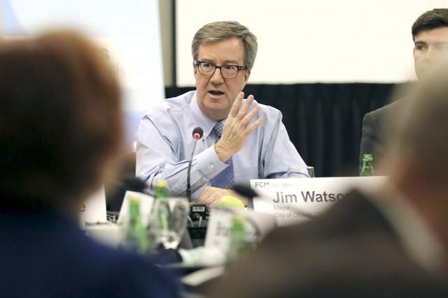 Le maire d'Ottawa, Jim Watson... (Patrick Woodbury, Archives LeDroit)