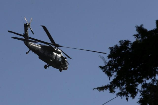 C'est la seconde année de suite qu'un hélicoptère... (ARCHIVES REUTERS)