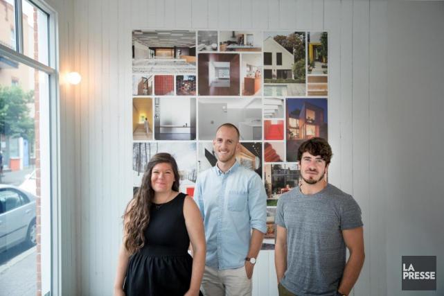 Les trois associés de La Shed architecture: Renée... (Photo Marco Campanozzi, La Presse)