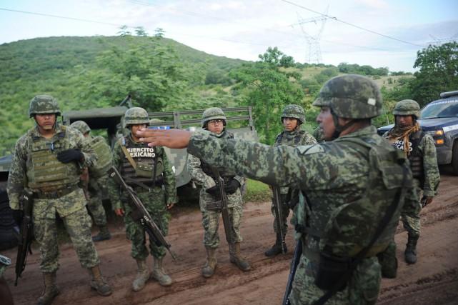 Les autorités mexicaines ont bouclé la zone de... (photo Pedro Pardo, AFP)