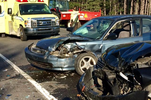 La collision a eu lieu tôt mercredi matin,...