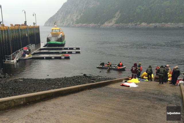Les blessés voulaient embarquer sur un bateau-mouche à... (Photo Le Quotidien, Mariane L. St-Gelais)