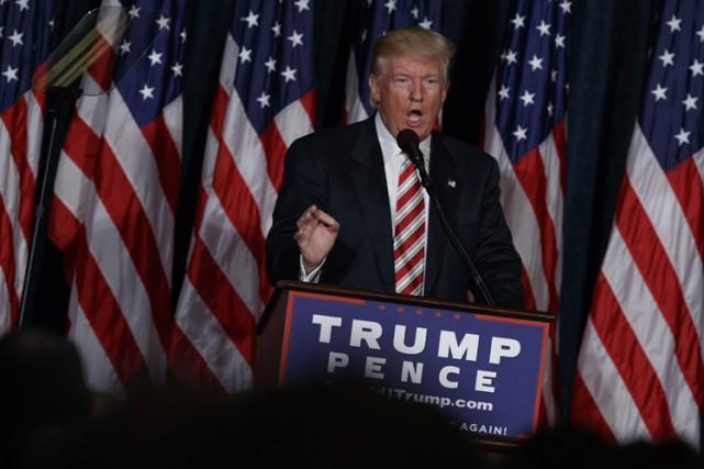 Donald Trump s'est adressé à ses partisans réunis... (PHOTO AP)