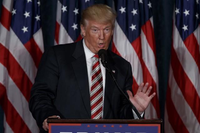 Le candidat républicain Donald Trump a fait part... (AP)