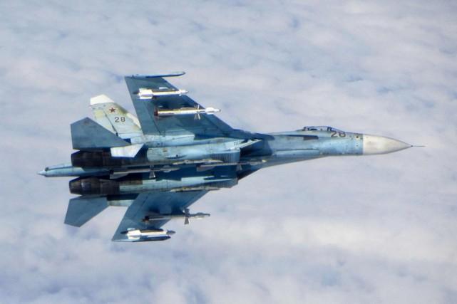 L'avion américain a été intercepté par un chasseur... (ARCHIVES REUTERS)