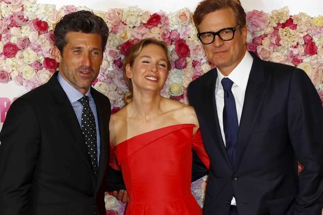 Patrick Dempsey, Renee Zellweger et Colin Firth sont... (AP, François Mori)
