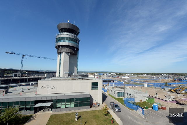 L'aéroport de Québec... (Le Soleil, Erick Labbé)