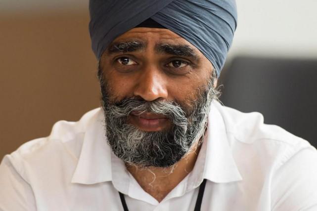 Le ministre de la Défense canadien, Harjit Sajjan... (PhotoNathan Denette, La Presse Canadienne)