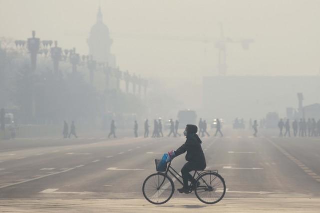 La Chine a annoncé son plan de réduction d'émissions de gaz à effet de serre et... (Photo WANG ZHAO, archives AFP)