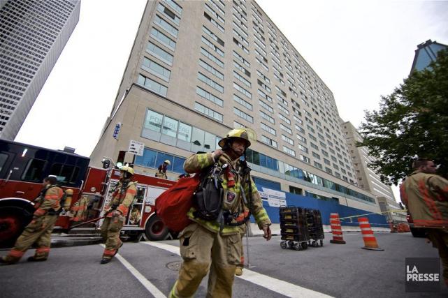 Le Service de sécurité incendie de Montréal a... (Photo André Pichette, La Presse)