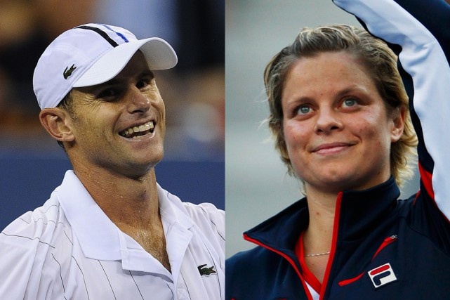 Andy Roddick et Kim Clijsters... (Photo archives Agence France-Presse et Reuters)