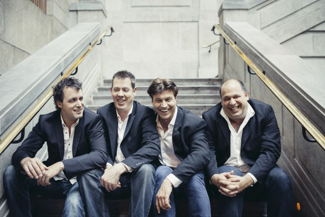 Les membres du quatuor vocal Quartom donneront le... (Photo de Quartom, Brent Calis)