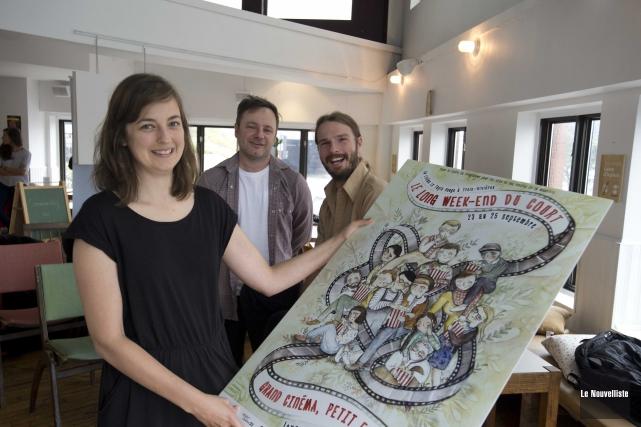 Sur la photo, les coorganisateurs Marie-Pier Lacroix-Couture et... (Sylvain Mayer, Le Nouvelliste)