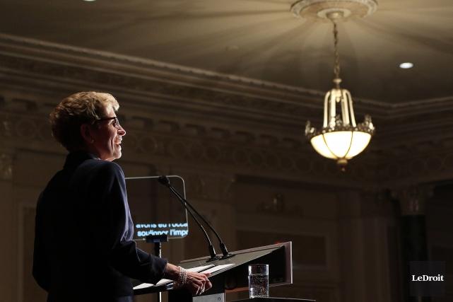 La première ministre de l'Ontario, Kathleen Wynne... (ETIENNE RANGER, Archives LeDroit)