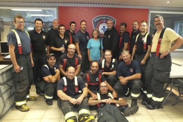 Quatre ans après son accident, Lise Laplante a... (Fournie par le Service des incendies de Roxton Pond/Sainte-Cécile-de-Milton)