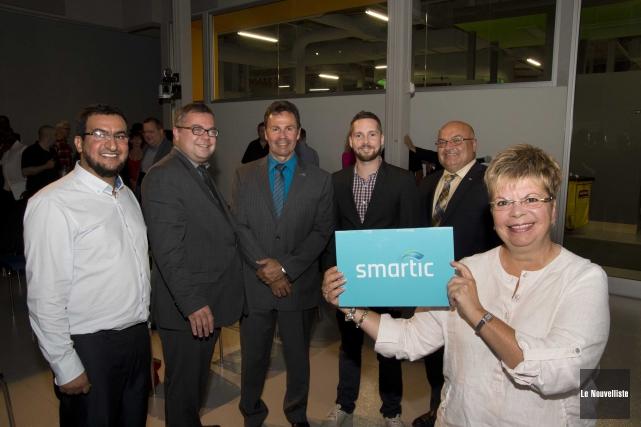 Deux projets de l'entreprise Smartic ont été présentés... (Sylvain Mayer, Le Nouvelliste)