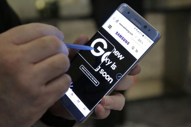 Certains exemplaires du Galaxy Note 7 ont été... (Photo Richard Drew, AP)