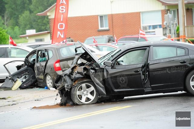 L''accident est survenu le samedi 18 juillet 2015.... (Archives Le Quotidien, Gimmy Desbiens)
