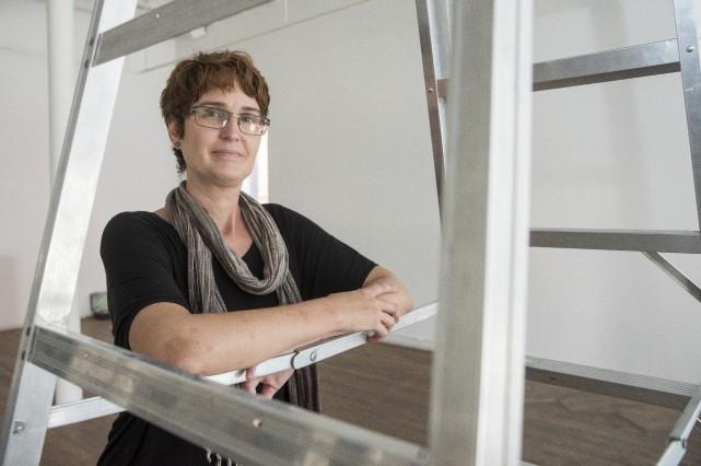 Line Dezainde, directrice artistique de Sporobole et commissaire... (Spectre Média, Frédéric Côté)