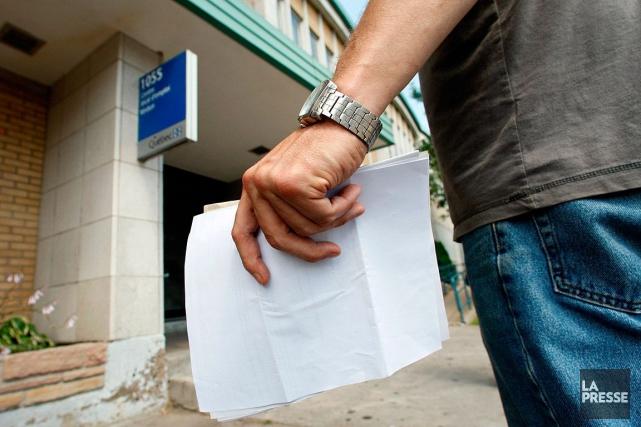 Le marché de l'emploi canadien a pris du... (Archives La Presse)