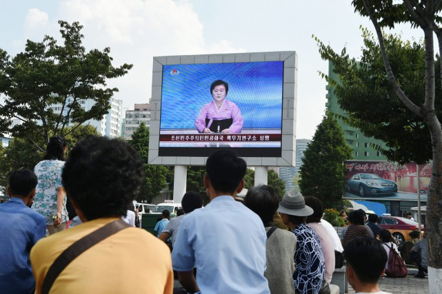 «Nos scientifiques nucléaires ont mené un essai d'explosion... (photo Kim Won-Jin, AFP)