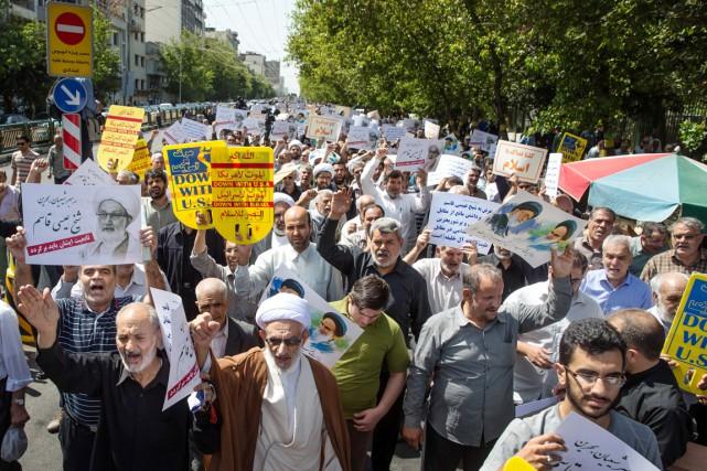 Alors que la guerre des mots entre l'Iran... (photo Ebrahim Noroozi, AP)