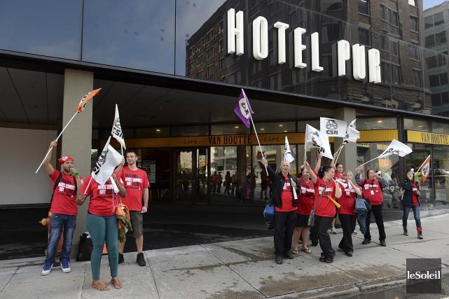 Une manifestation a eu lieu récemment devant l'Hôtel... (Le Soleil, Patrice Laroche)