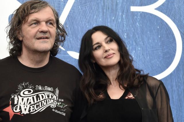 Le réalisateur Emir Kusturica et l'actriceMonica Bellucci ont... (PHOTO AFP)