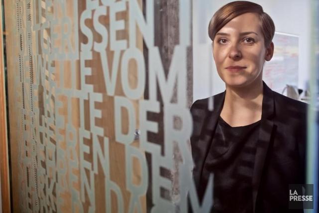 Katja Melzer,nouvelle directrice du Goethe Institut.... (PHOTO ANDRÉ PICHETTE, LA PRESSE)